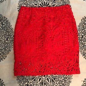 Forever 21 coral mini skirt